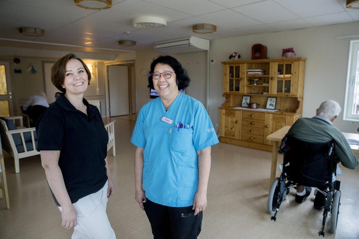Madlin Alnajjar och Virginia Eriksson.