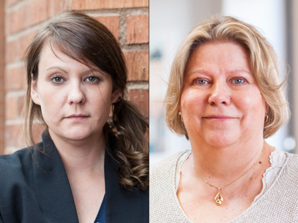 Jessica Leiding och Riitta Salokangas Davidsson.