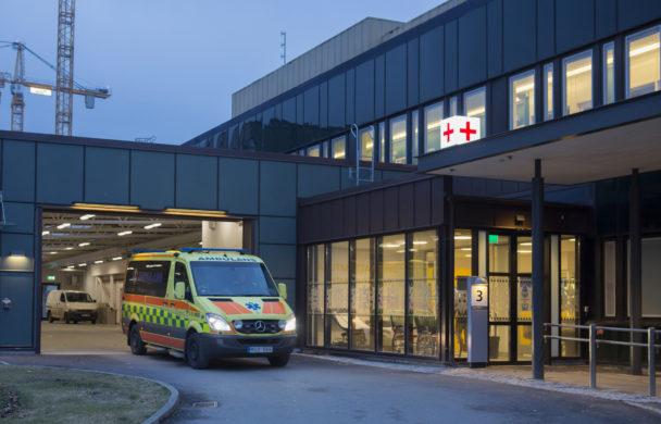 Ambulans vid Sahlgrenska universitetssjukhuset.
