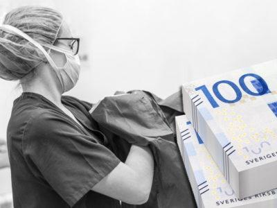 Extrapengar till vårdpersonal (genrebild).