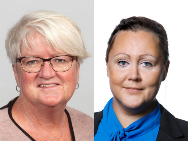 Carina Ohlsson och Christine Marttila.