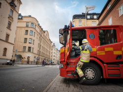 Brandman i Stockholm.