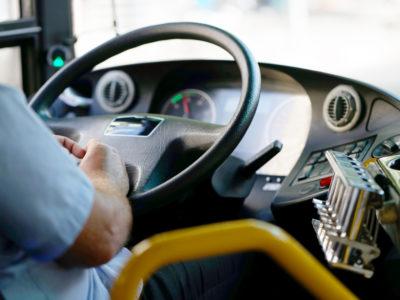 Bussförare (genrebild).
