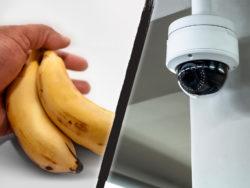 De anställda kameraövervakades bland annat när de tog hem bananer (genrebilder).