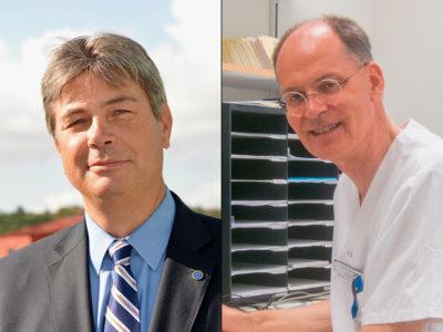 Johan Hellgren och Nils Hamnerius, överläkare.