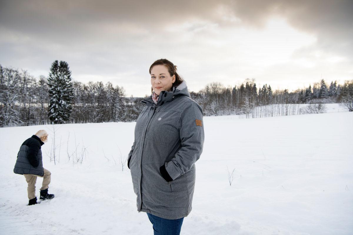 Anna Lidén med sin tioåring.
