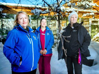 Jessica Malmersjö, Janina Himberg och Kristina Närhi.