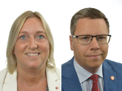 Gunilla Carlsson och Mattias Jonsson (S).