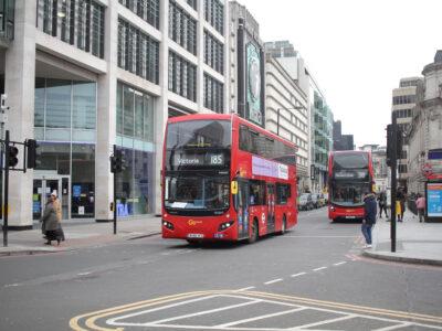 Buss från Go Ahead I London, England.