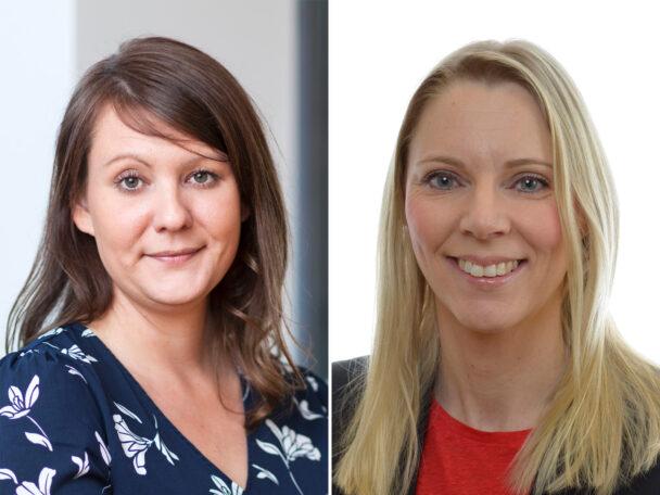 Jessica Leiding, Kommunal, och Åsa Westlund (S).