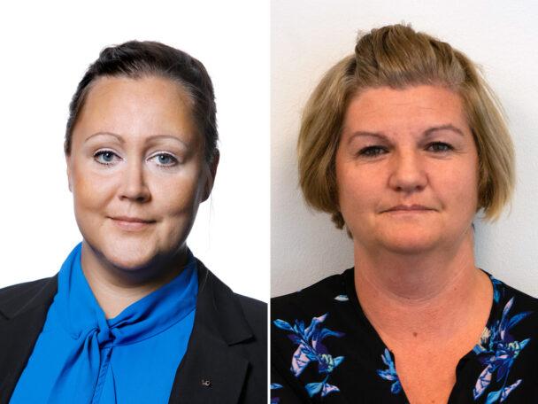 Christine Marttila och Sladjana Gustafsson, Kommunal.