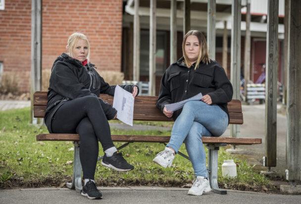 Frida Larsson och Sofia Nykvist, huvudskyddsombud i Laxå.