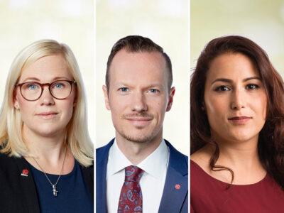 Sara Heelge Vikmång, Rasmus Lenefors och Kamile Ünver.