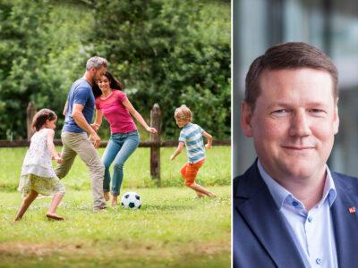 Tobias Baudin välkomnar beskedet om en familjevecka.