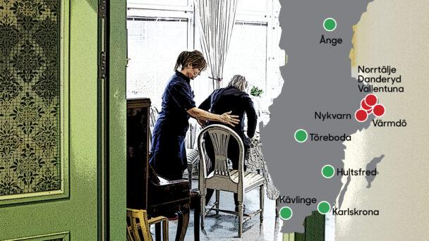 Kommunerna med störst och minst andel fastanställda (hela listan finns nedan).