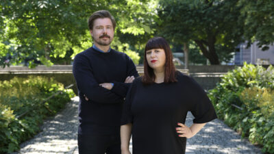Karl Martinsson och Mira Klingberg Hjort.