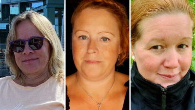 Tre barnskötare om barn med symtom.