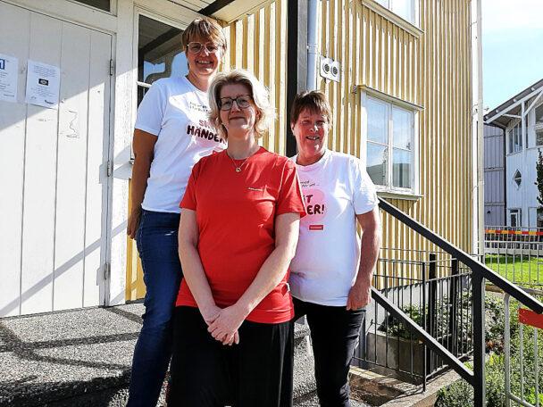 Yvonne Fors, Anna Daulin och Annki Stark.